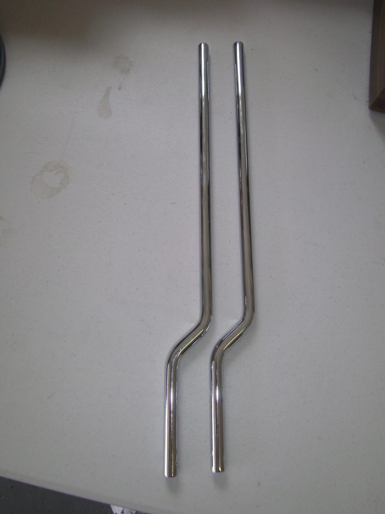 2 New Chrome Upright support