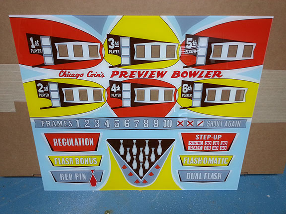 1965 Chicago Coin PREVIEW Ball Bowler Upper Back Glass